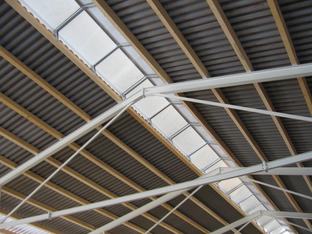 Berühmt Dachdeckung ohne Isolierung wie Dachblech, Welleneternit NX45
